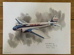 Boeing 247-d 1933-1942 United Airlines 1973 Collector Print Nixon Galloway
