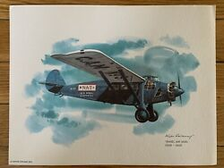 Travel Air 5000 1928-1929 United Airlines 1976 Collector Print Nixon Galloway