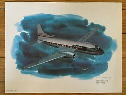 Convair 340 1952-1968 United Airlines 1976 Collector Print Nixon Galloway