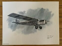 Ford Stout 2-at Pullman 1925 United Airlines 1976 Collector Print Nixon Galloway