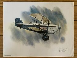 Curtiss Falcon 1929-1930 United Airlines 1976 Collector Print Nixon Galloway
