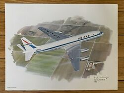 Mcdonnell Douglas Dc-8 1959 United Airlines 1980 Collector Print Nixon Galloway