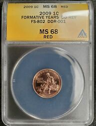 2009 Lincoln Bi-centennial Cent Fy - Anacs Certified Ms68rd And Ddr Fs-802