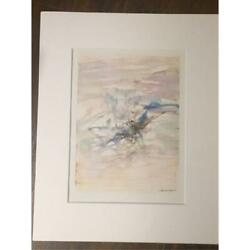 Wou-ki Print Art With Autograph 1966 From Japan Free Shipping