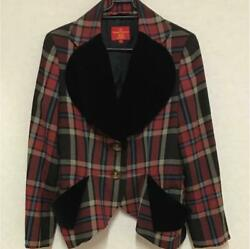 Vivienne Westwood Love Jacket Skirt Se Check Red Label Size Used 3 F/s From Jp