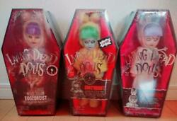Living Dead Dolls Eggzorcist Unopened Set Of 3 Genuine Collectible F/s From Jpn