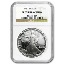 1991-s Proof Silver American Eagle Pf-70 Ngc Registry Set