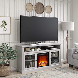 Ameriwood Home Chicago Electric Fireplace Tv Console For Tv Up To 50 Vent Free