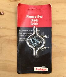 Lehigh Nickel Plated Flange Eye, Rope Accessory For Auto/ Boat, Tie Down - New