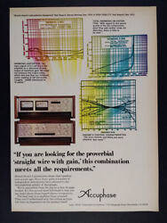 1976 Accuphase C-200 Control Amp P-300 Power Amp Vintage Print Ad