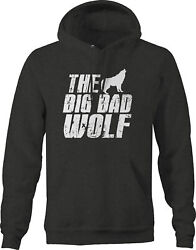 The Big Bad Wolf Fables Fairy Tales Tough Guys Hoodies For Men Dark Grey