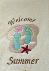Personalized Beach Flip Flop Hand Towel Made To Order $15.00