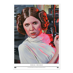 Topps Star Wars Living Princess Leia 10x14 Fine Art Print Gold 1/1 Only 1 Made