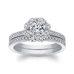 Real 14k White Gold 1.16 Ct Natural Solitaire Diamonds Engagement Ring Size 6 8