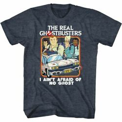 The Real Ghostbusters - Busters And Ecto1 - Adult Short Sleeve T-shirt