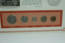 1953 Coin Set - D Ben Franklin And Dime/s Quarter-dollar And Nickel/ P Penny