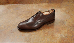 New And039strandand039 Wingtip Oxford Shoes Brown Leather Mens 8 Us 7 Uk Msrp 995