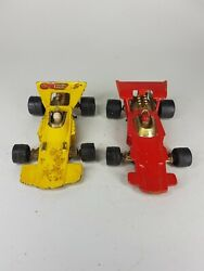 Vintage 1971 Matchbox Speed Kings K-34 Thunderclap Race Cars Red And Yellow