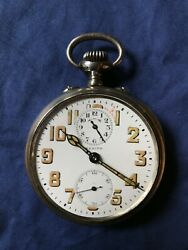 Vintage Early Zenith Military Swiss Made Travel Alarm Watch Pocket Watch