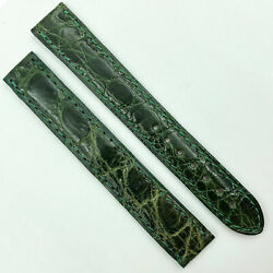 Authentic 15mm Green Leather Strap For Buckle 580oa13oeao