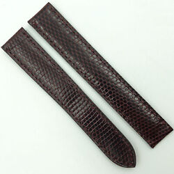 Authentic 15mm Burgundy Leather Strap For Deployant 5807a09odab