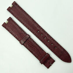 Authentic 16mm Burgundy Leather Strap For Buckle 0h100dab