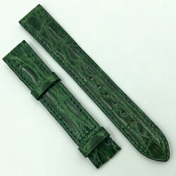 Authentic 15.5mm Green Leather Strap For Buckle 580oh10odco
