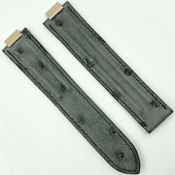 10mm Gray Alligator Leather Strap For Deployant 5806a22oehe
