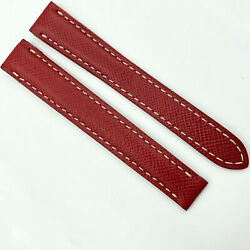 Authentic 14mm Saffiano Red Leather Strap For Deployant Clasp 6anc8s29