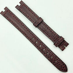 Authentic 11mm Burgundy Leather Strap For Buckle 5801c02obab