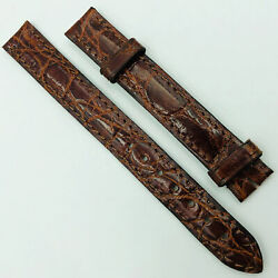 Authentic 12-12mm Shiny Brown Leather Strap For Buckle