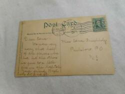 1907 Monument And Armory Camden Nj Postcard And Benjamin Franklin 1 Cent Tamp 5