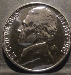 1961 Proof Black Beauty Nickel Stunning F/s Uncirculated Bow Chica Wow Wow