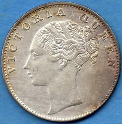 East India Company 1840 1 One Rupee Silver Coin - High Grade Lustrous