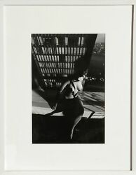 Lucien Clergue Nude On A Ledge Gelatin Silver Print Signed In Ink Verso