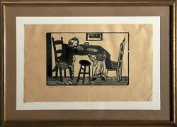 Will Barnet Child Reaching Woodcut On Wove Paper Signed In Pencil