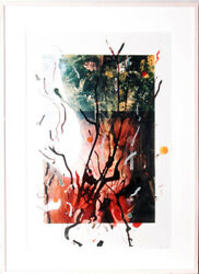 Rebecca Horn Unbenannt Over-painted Photograph