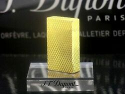 S.t.dupont Gas Lighter Ligne 1 Yellow Gold Rectangle Lg1495