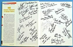 100 Greatest Moments In Olympic History Signed By Juan Samaranch + 32 Medalists
