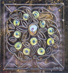 Unknown Artist, Tree Of Life, Painted And Molded Acrylic, Signed And Dated