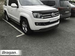 To Fit Vw Amarok 2016+ Double Spoiler Bar Black Stainless Bumper City Nudge Chin
