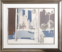 Fairfield Porter, New York City Street, Lithograph On Arches, Signed And Numbere