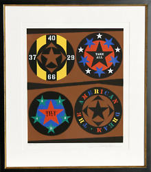 Robert Indiana, Tilt From The American Dream Portfolio, Screenprint, Signed And