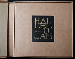 Ben Shahn Hallelujah Book Of 24 Lithographs Each Signed In The Plate