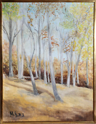 M. Sava, Summer Forest, Oil On Canvas, Signed L.l.