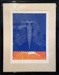 Ertandeacute Le Rideau De Land039hiver Screenprint Signed And Numbered In Pencil