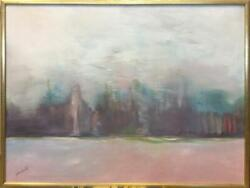 Gloria Rosenthal, Winter Trees, Acrylic On Canvas, Signed Lower Left