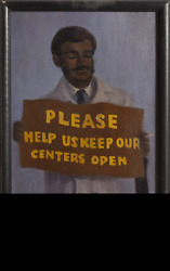 William Waithe, Please Keep Our Centers Open, Oil On Canvas, Signed Lower Left