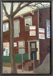 William Waithe, Foreclosed House, Oil On Canvas, Signed Lower Left