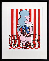 William Copley American Girl Screenprint Signed Dated And Numbered In Pencil